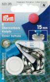 6 überziehbare Knöpfe - Silber - 15mm