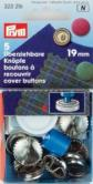 5 überziehbare Knöpfe - Silber - 19mm