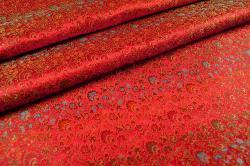Blütenmeer Fernost - Seidenimitat - Rot