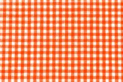 Vichy-Karo Allgäu 4 mm - reine Baumwolle - Orange