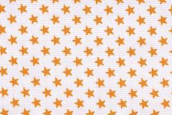 Sonnenschutz-Gewebe Sterne - 280 cm breit - Weiß/Sonnengelb