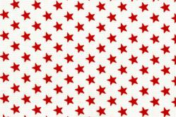 Sonnenschutz-Gewebe Sterne - 280 cm breit - Weiß/Rot