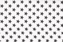 Sonnenschutz-Gewebe Sterne - 280 cm breit - Weiß/Grau
