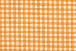 Sonnenschutz-Gewebe Vichy-Karo - 280 cm breit - Weiß/Sonnengelb