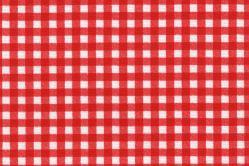 Sonnenschutz-Gewebe Vichy-Karo - 280 cm breit - Weiß/Rot