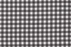 Sonnenschutz-Gewebe Vichy-Karo - 280 cm breit - Weiß/Grau