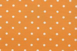 Sonnenschutz-Gewebe Punkte - 280 cm breit - Sonnengelb/Weiß
