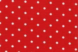 Sonnenschutz-Gewebe Punkte - 280 cm breit - Rot/Weiß