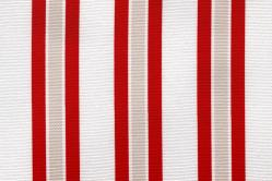 Sonnenschutz-Gewebe Multi-Streifen - 280 cm breit - Rot/Weiß