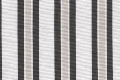 Sonnenschutz-Gewebe Multi-Streifen - 280 cm breit - Grau/Weiß
