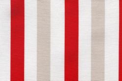 Sonnenschutz-Gewebe Block-Streifen - 280 cm breit - Rot/Weiß