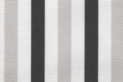 Sonnenschutz-Gewebe Block-Streifen - 280 cm breit - Grau/Weiß