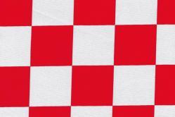 Universalstoff - Riesenkaro - Rot/Weiß