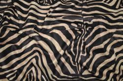 Microfaser Tierimitat - Zebra