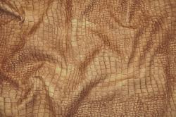 Microfaser Tierimitat - Krokodil braun
