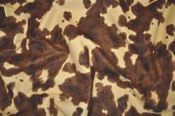 Microfaser Tierimitat - Kuh Braun