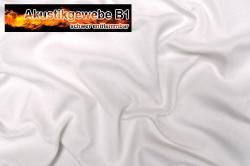 Akustikgewebe schwer entflammbar- 300 cm - Weiß