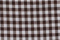 Vichy-Karo Allgäu 8 mm - reine Baumwolle - Dunkelbraun