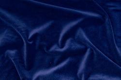Baumwollsamt - Nachtblau