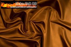 Deko-Taft - permanent schwer entflammbar - 310 cm - Mittelbraun