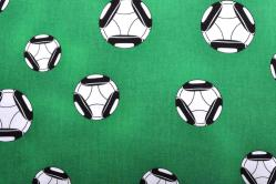 Fußball Dekostoff - große Bälle - Grün