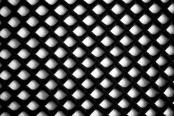 Netzstoff - Super-Elastik - Schwarz