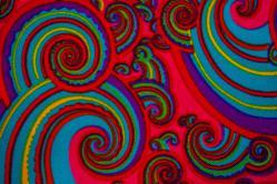 Universalstoff - Fraktal Hippie - Pink