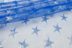 Sternentüll - Blau/Silber