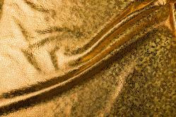 Folienstoff Schlange - Stretch - Gold