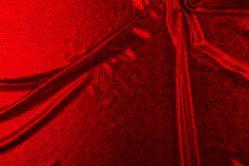 Folienstoff Schlange - Stretch - Rot