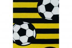 Fußball-Baumwollstoff - Streifen - Schwarz/Gelb