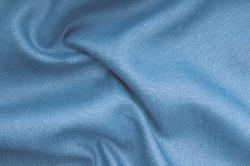 Jute farbig - 130 cm breit - Stahlblau