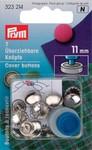7 überziehbare Knöpfe 11 mm - Silber