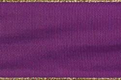 Stoffband Metallkante 40mm - 25m Rolle - Violett