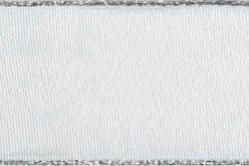 Stoffband Metallkante 40mm - 25m Rolle - Weiß
