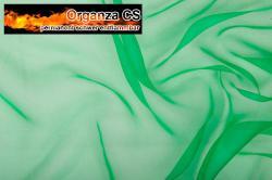 Organza - permanent schwer entflammbar - 300 cm - Grün