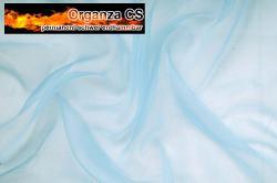 Organza - permanent schwer entflammbar - 300 cm - Hellblau