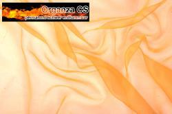Organza - permanent schwer entflammbar - 300 cm - Orange