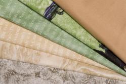 Patchwork-Quilt-Paket Beige / Grün