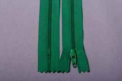 Kunststoff-Reißverschluss nicht teilbar - 18 cm - Grün