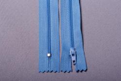 Kunststoff-Reißverschluss nicht teilbar - 18 cm - Hellblau