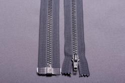 Kunststoff-Reißverschluss teilbar - 30 cm - Grau