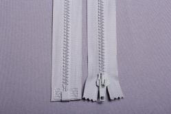 Kunststoff-Reißverschluss teilbar - 70 cm - Silber