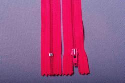 Kunststoff-Reißverschluss nicht teilbar - 20 cm - Pink
