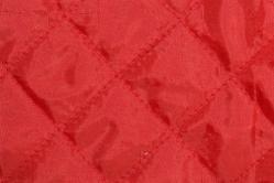 Steppfutter wattiert - Rot