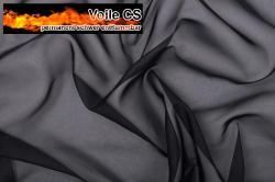 Voile - permanent schwer entflammbar - 300 cm - Schwarz