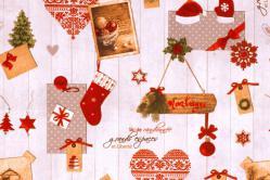 Dekostoff Leinenoptik - Weihnachtdekorationen