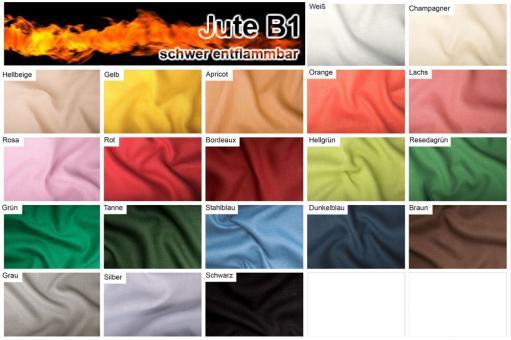 Jute B1 farbig - 130 cm breit