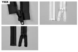 YKK-Kunststoff-Reißverschluss - teilbar - 80 cm