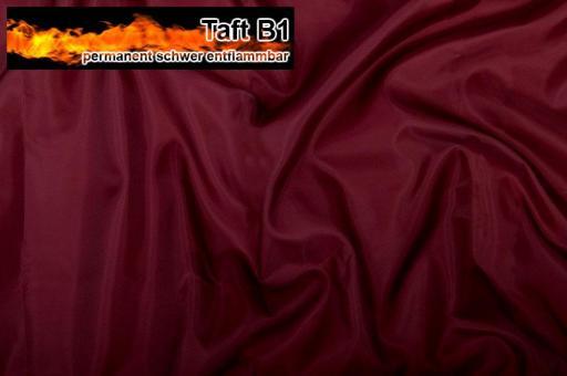 Taft - permanent schwer entflammbar B1 - Bordeaux Bordeaux